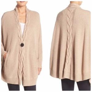 Ugg Anjeline Knit Cape Sweater In Natural